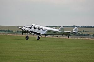 Le Lockheed L-12 Electra F-AZLL appartenant à Bernard Chabbert
