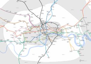 Cartographie de la zone 2 (Greenwich, Camden, Brixton, etc.)