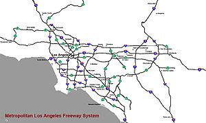 Le vaste réseau autoroutier de Los Angeles et de sa région