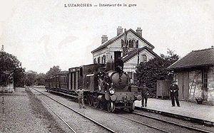 Intérieur de la gare vers 1900