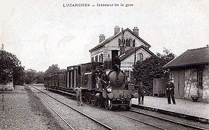 Int�rieur de la gare vers 1900