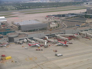 Vue aérienne du terminal Lindbergh-C