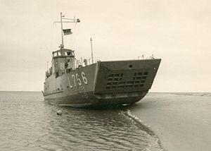 LCI de la marine allemande en 1966.
