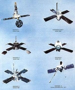 Vue d'ensemble des sondes du programme Mariner