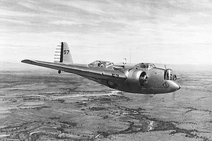Un B-10 lors d'un entrainement au dessus de la base de Maxwell