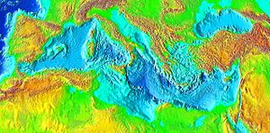 Relief de la mer M�diterran�e