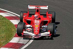 Michael Schumacher au volant de la Ferrari 248 F1 lors du Grand Prix du Canada 2006.
