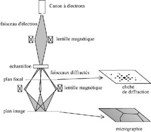 Principe de fonctionnement du microscope électronique en transmission