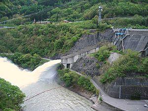 Canalisation de décharge du barrage de Matsumoto (Préfecture de Nagano, Japon)