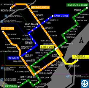 Carte du métro de Montréal