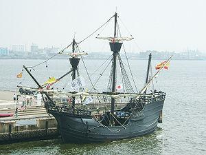 R�plique du Victoria, un des navires de Magellan.