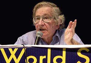 Noam Chomsky au forum social mondial de 2003