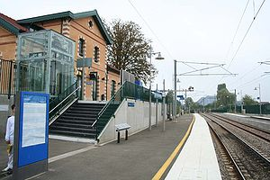 La gare vue côté quais.