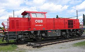 Locomotive Vossloh MaK 800 pour les chemins de fer autrichiens