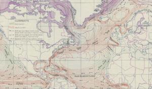 Gulf Stream et sa circulation dans l'Atlantique nord