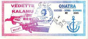 Billet première classe vedette Kalamu, novembre 2003