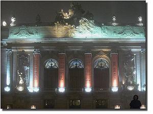 L'opéra de Lille, de nuit