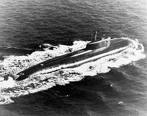 Le Omsk, un sous-marin de classe Oscar II semblable au Koursk