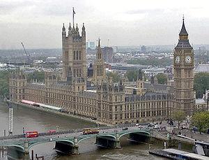 Vue du Parlement, de Big Ben et de la Tamise
