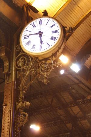 Détail de l'intérieur de la gare de Lyon