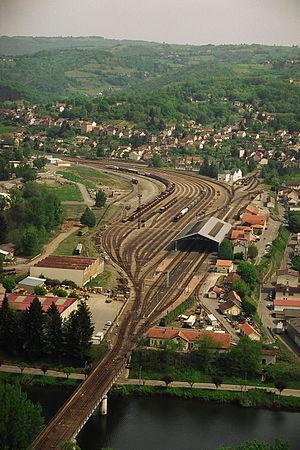 Ville de Capdenac autour de la gare