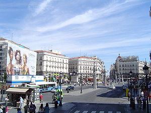 La Puerta del Sol, centre de Madrid