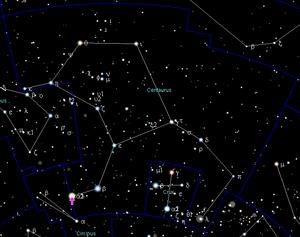 Position d'Alpha Centauri