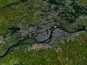 Vue satellite de Pyongyang