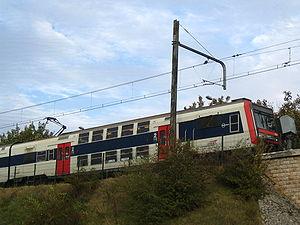 Rame Z2N (Z20500) assurant un service RER C à Saint-Martin-d'Étampes.