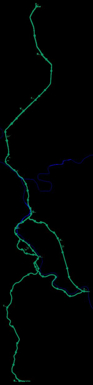 G�ographie de la ligne
