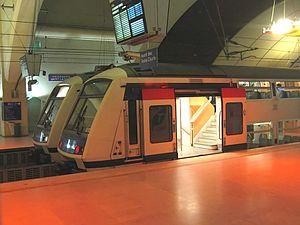 2 rames Z 22500 à la station Haussmann - Saint-Lazare.