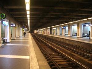 La gare au niveau des quais (01/02/07).