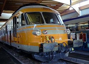 Motrice RTG à la Cité du train de Mulhouse.