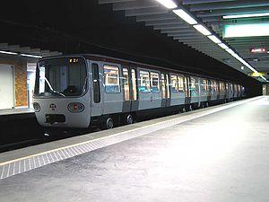 Rame ligne A à la station Perrache