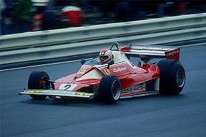 Clay Regazzoni en 1976 sur la Ferrari 312 T