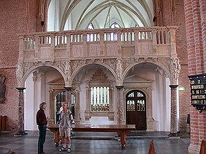 Jubé de l'église de Saint-Cunerakerk à Rhenen, aux Pays-Bas