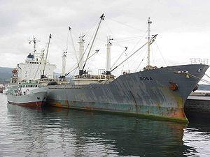 Le Rosa au port espagnol de Ribeira