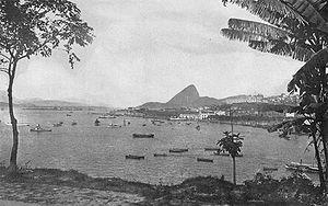 La baie de Rio de janeiro, en 1919