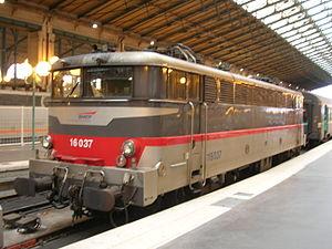 La BB 16037 en gare du Nord à Paris