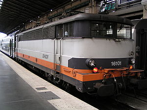 La BB 16101 en gare du Nord à Paris