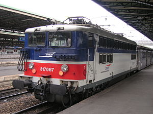 La BB 17067 à Paris-Est.