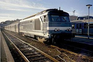 La BB 67304 en gare de Saint Malo.