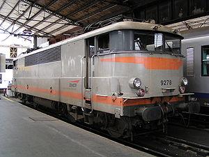 La BB 9278 en gare d'Austerlitz.