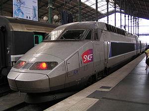 Une rame TGV Réseau en gare du Nord à Paris.