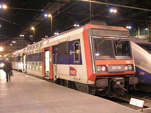 La Z 20758 à la gare de Lyon à Paris.