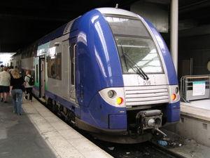 La Z 26531  du TER Picardie en gare du Nord à Paris
