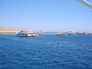 Site de plongée Police Station sur Giftoun Soraya à Hurghada