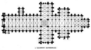 Cathédrale de Salisbury (double transept)