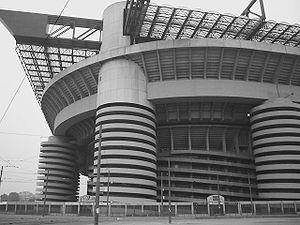 Stade San Siro de Milan, Italie
