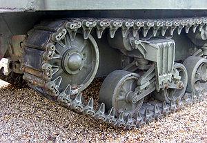 Chenille de char Sherman M4 des années 1940